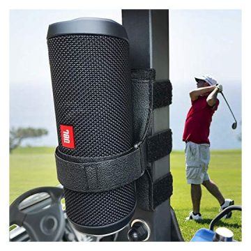 HomeMount Portable Speaker Mount for Golf Cart Accessories  Adjustable Strap Fits Bluetooth Wireless Speaker Strap Attachment to Golf Cart Heater Beach Umbrella Boat