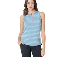 Skechers Golf Women Backswing Zip Front Sleeveless Golf Polo Blue XXL