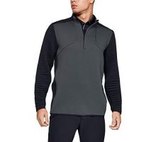 Under Armour Men Storm Daytona Golf 1 2 Zip Pullover Pitch Gray  Black XLarge