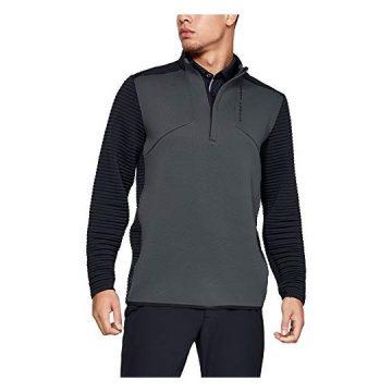 Under Armour Men Storm Daytona Golf 1 2 Zip Pullover Pitch Gray  Black XLarge