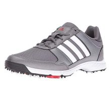 adidas Men Tech Response Golf Shoe Iron Metallic White 85 W US