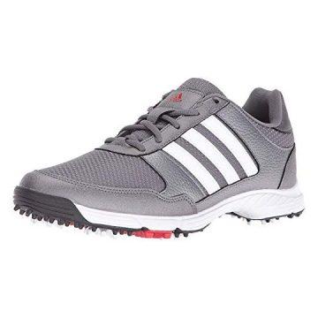 adidas Men Tech Response Golf Shoe Iron Metallic White 85 W US