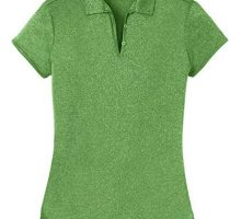 DRIEquip Ladies Heathered Moisture Wicking Golf PoloGreen2XL