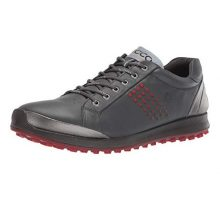 ECCO Men Biom Hybrid 2 Hydromax Golf Shoe Dark Shadow Yak Leather 9 M US