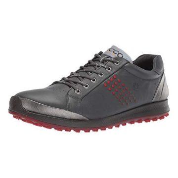 ECCO Men Biom Hybrid 2 Hydromax Golf Shoe Dark Shadow Yak Leather 9 M US