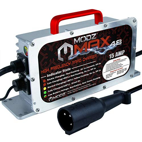 MODZ Max48 15 AMP Club Car Battery Charger for 48 Volt Golf Carts