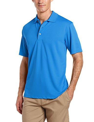PGA TOUR Men Airflux Short Sleeve Solid PoloShirts Classic Blue L