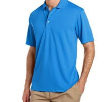 PGA TOUR Men Airflux Short Sleeve Solid PoloShirts Classic Blue L