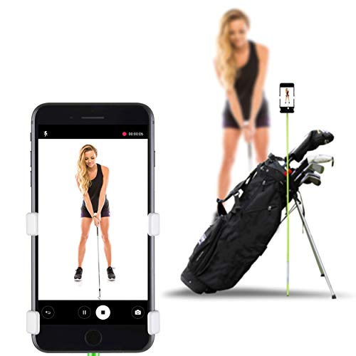 SelfieGOLF Record Golf Swing  Cell Phone Holder Golf Analyzer Accessories | Winner of The PGA Best Product | Selfie Putting Training Aids Works with Any Golf Bag and Alignment Stick