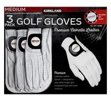 Kirkland Signature Men Golf Gloves Premium Cabretta Leather Medium 3 Pack