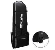 Partage Golf Travel Bag with WheelsGolf Travel Case for Airlines Black