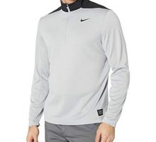 NIKE Men Dry Top Half Zip core Wolf Grey Pure Platinum Black Large