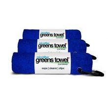 3 Pack of Royal Blue Microfiber Golf Towels