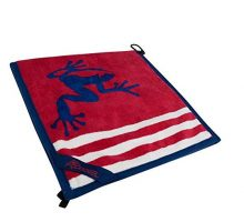 Frogger Golf Wet and Dry Amphibian Towel  Patriot Red White Blue
