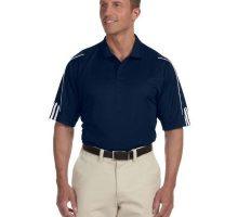 Adidas Men 3Stripes Contrast Piping Polo Shirt Collegiate Nvy Wht XXXLarge