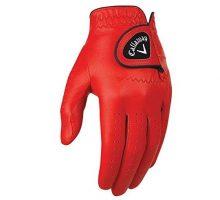 Callaway Golf 2017 Men OptiColor Leather Glove Red Medium Large Worn on Left Hand