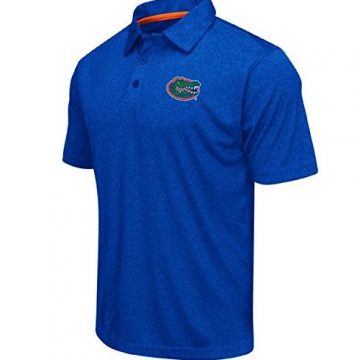 Colosseum Men NCAA Heathered TrendSetter Golf Polo ShirtFlorida GatorsHeathered BlueLarge