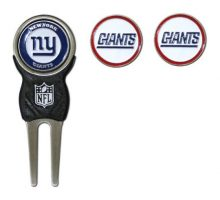 NFL New York Giants Divot Tool Pack With 3 Golf Ball Markers