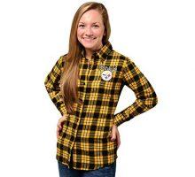 Pittsburgh Steelers 2016 Wordmark Basic Flannel Shirt  Womens Small