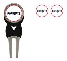 NFL New England Patriots Divot Tool Pack With 3 Golf Ball Markers