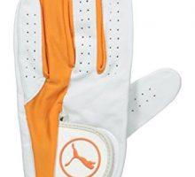 Puma Golf Men Pro Formation Hybrid Glove White Vibrant Orange XLarge Left Hand