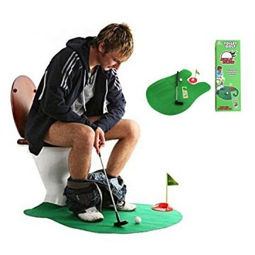Toilet Golf  Moonmini Potty Putter Set Bathroom Game Mini Golf Set Golf Putting Novelty Set  Play Golf on the Toilet