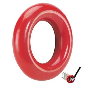 JP Lann Golf Weighted Swing Ring for Practice Training Red