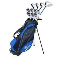 Palm Springs Golf VISA V2 Mens GRAPHITE & STEEL Club Set & Stand Bag