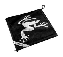 Frogger Golf Wet and Dry Amphibian Towel  Black Gray