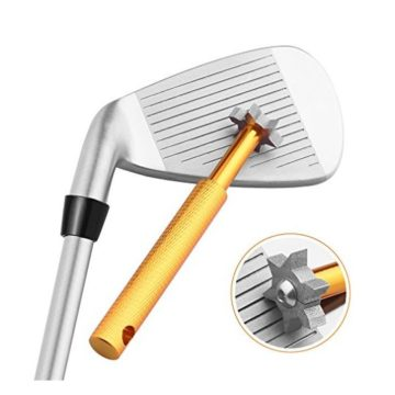 Golf Club Groove Sharpener Tool with 6 Cutters Vancle Golf Club ReGrooving Cleaning Tool 6Tip Golf Accessories