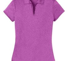 Joe USA DriEQUIP(TM) Ladies Heathered Moisture Wicking Golf PoloBerryL