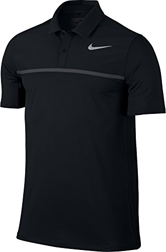 Nike Golf Men 2017 Mobility Remix Polo Black Black Anthracite Flt Silver Large