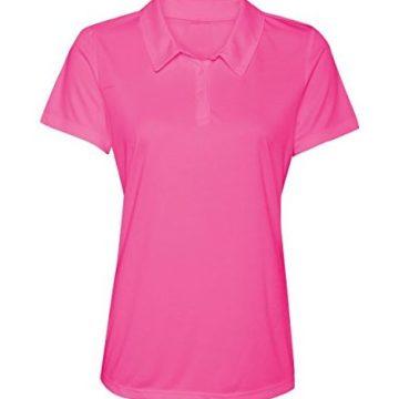 Women DryFit Golf Polo Shirts 3Button Golf Polo in 20 Colors XS3XL Shirt PINKL