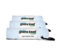 3 Pack of White Microfiber Golf Towels