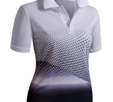 CLOVERY Functional Fabric Wicking Material Clothing Short Sleeve Basic Polo Top BLACK US S   Tag S