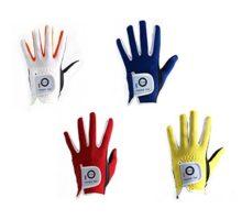 Finger Ten Junior kids Dura Feel White Blue Red Yellow Golf Gloves Extra Value 2 Pack