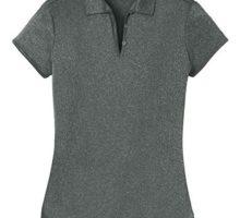 Joe USA DRIEquip(tm) Ladies Heathered Moisture Wicking Golf PoloCharcoal3XL