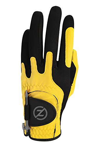 Zero Friction Men Synthetic Golf Glove Yellow Left Hand One Size