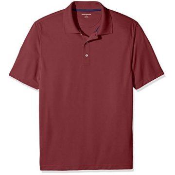 Amazon Essentials Men RegularFit QuickDry Golf Polo Shirt Port Large