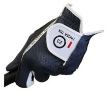 Men's Golf Glove Rain Grip Black Grey Color Pack Durable Fit for Hot Wet All Weather Left Hand Set Size Small Medium Large XL By Finger Ten