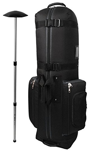 CaddyDaddy Golf CDYCON2GP  Constrictor Grey with North Pole Golf Bag Travel Cover Black Grey