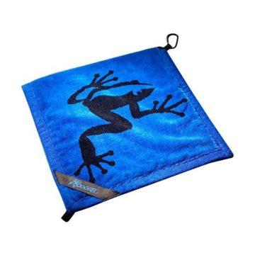 Frogger Golf Wet and Dry Amphibian Towel  Blue Black