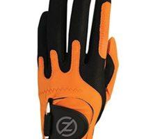 Zero Friction Men Golf Gloves Right Hand One Size Orange