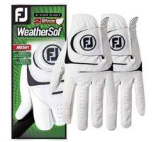 FootJoy WeatherSof 2Pack Golf Gloves 2018 Regular White Black Fit to Left Hand Large