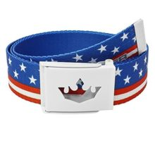 Meister Player Golf Web Belt  Adjustable & Reversible  American Flag