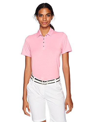 adidas Golf Women Essential Short Sleeve Polo Pink Glow Medium