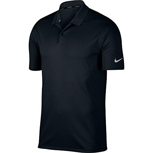 NIKE Men Dry Victory Solid Polo Golf Shirt Black Cool Grey Medium