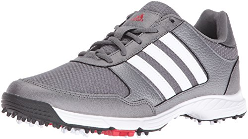 adidas Men Tech Response Golf Shoe Iron Metallic White 14 M US