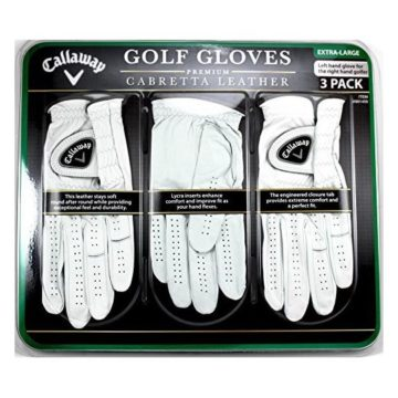 Callaway Golf Gloves 3 Pack Left Hand for Right Handed Golfer Extra Large