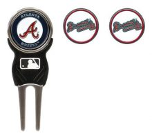 Team Golf MLB Boston Red Sox Divot Tool with 3 Golf Ball Markers Pack Markers are Removable Magnetic DoubleSided Enamel
